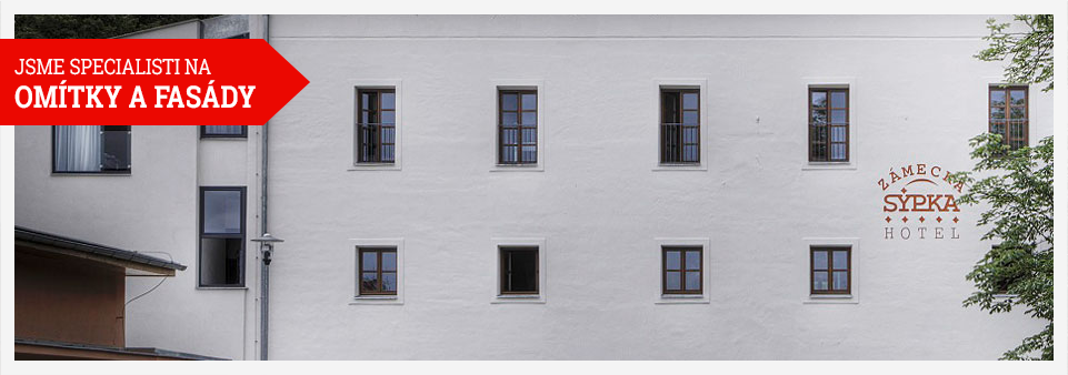 strojní omítky, fasády, revitalizace